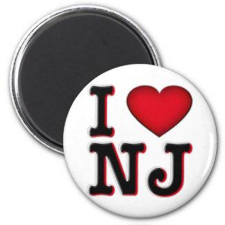 Amo la ropa y la mercancía de NJ Imán Para Frigorifico