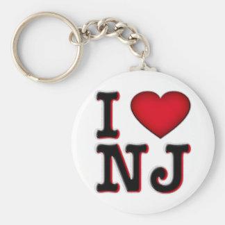 Amo la ropa y la mercancía de NJ Llavero Redondo Tipo Pin