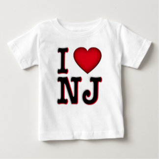 Amo la ropa y la mercancía de NJ Playera De Bebé