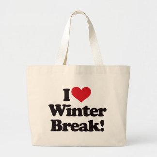 ¡Amo la rotura del invierno! Bolsas De Mano
