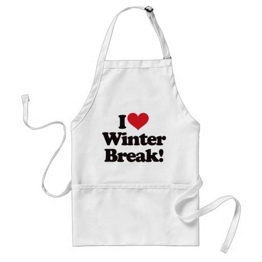 ¡Amo la rotura del invierno! Delantales