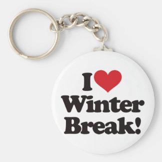 ¡Amo la rotura del invierno! Llavero Redondo Tipo Pin