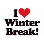 ¡Amo la rotura del invierno! Tarjeta Postal