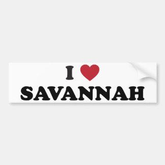 Amo la sabana Georgia Etiqueta De Parachoque