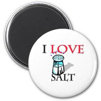 Amo la sal imán redondo 5 cm