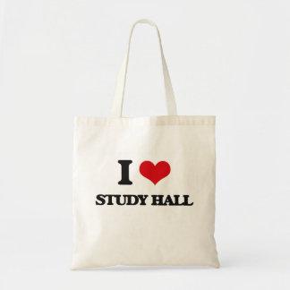 Amo la sala de estudio bolsa tela barata