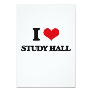 Amo la sala de estudio invitación 8,9 x 12,7 cm