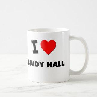 Amo la sala de estudio tazas de café