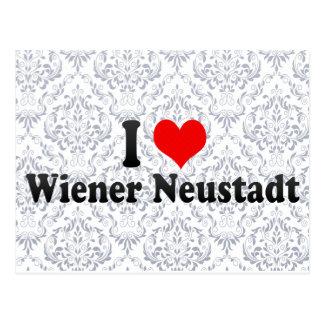 Amo la salchicha de Frankfurt Neustadt, Austria Tarjeta Postal