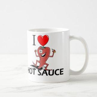 Amo la salsa caliente taza