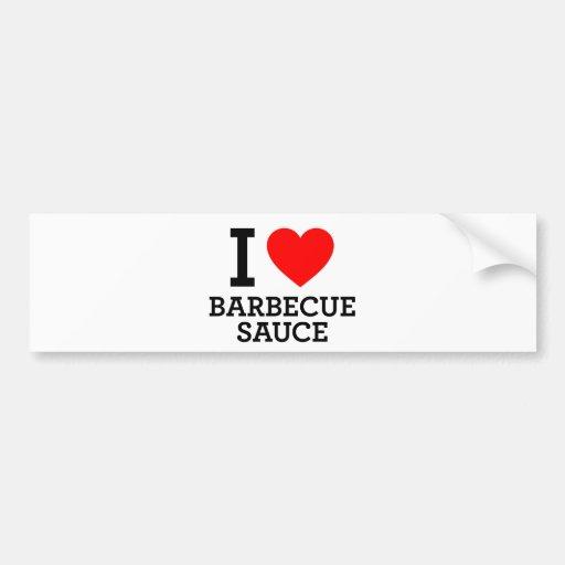 Amo la salsa de barbacoa pegatina para auto