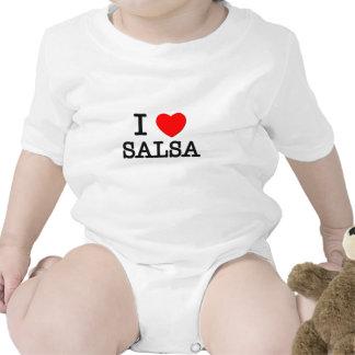 Amo la salsa traje de bebé