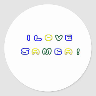 Amo la samba pegatina redonda