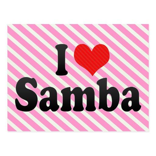 Amo la samba postales