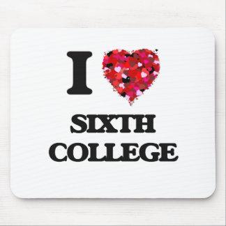 Amo la sexta universidad tapete de raton