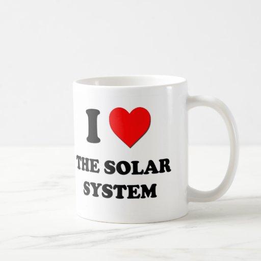 Amo la Sistema Solar Tazas De Café