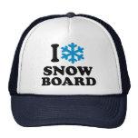 Amo la snowboard gorro de camionero