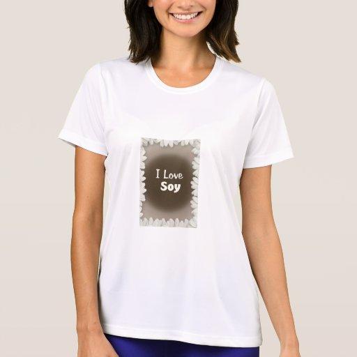 Amo la soja camisetas