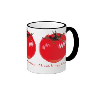 ¡Amo la sopa del tomate! Taza A Dos Colores