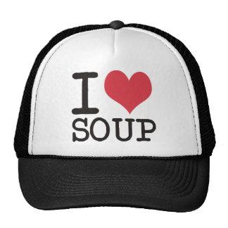 ¡Amo la sopa - vegetariano - los productos de la p Gorras De Camionero