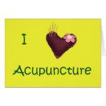 Amo la tarjeta agradable de la acupuntura
