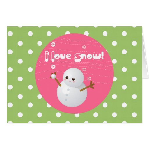 Amo la tarjeta de felicitación de la nieve