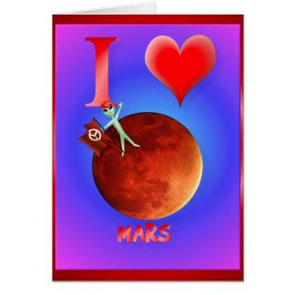Amo la tarjeta de Marte