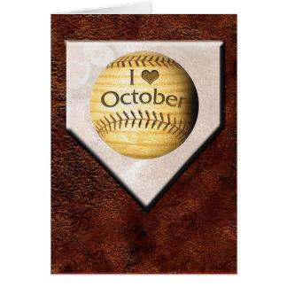Amo la tarjeta de octubre