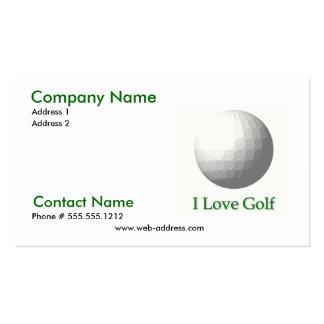 Amo la tarjeta de visita del golf