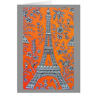 AMO la tarjeta del gris de PARÍS