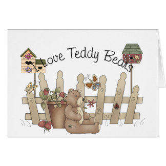 Amo la tarjeta del tomillo de la primavera de los