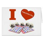 AMO la tarjeta feliz del día de madre del bingo