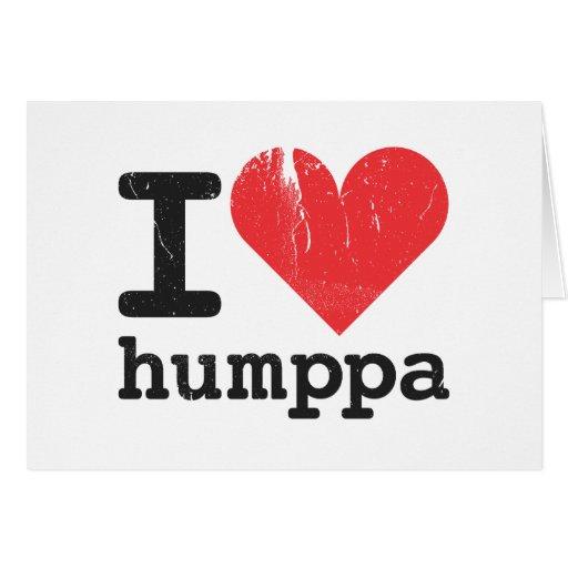 Amo la tarjeta plegable de Humppa