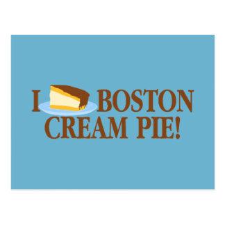 Amo la tarta de crema de Boston Postal