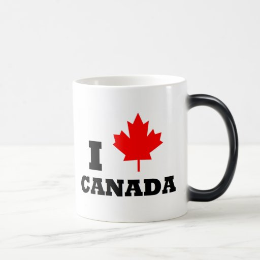 Amo la taza de café de Canadá