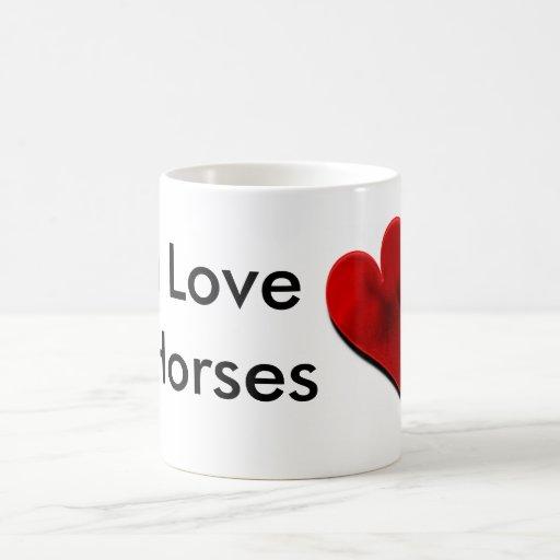 Amo la taza de café de los caballos