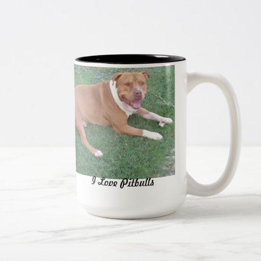 Amo la taza de café de los pitbulls