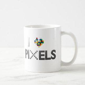 Amo la taza de café de los pixeles