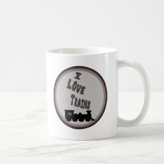 Amo la taza de café de los trenes