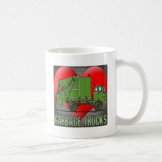 Amo la taza de café de los verdes del camión de ba