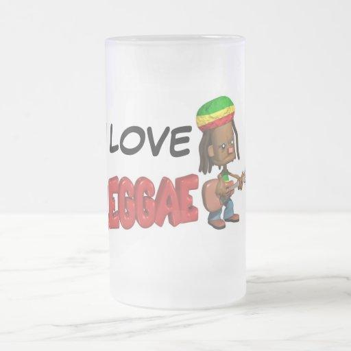 Amo la taza de cerveza helada reggae