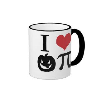 Amo la taza de la calabaza pi