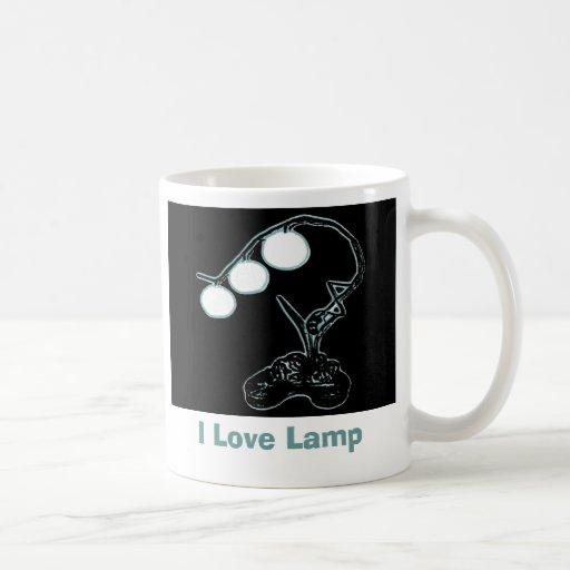 Amo la taza de la lámpara