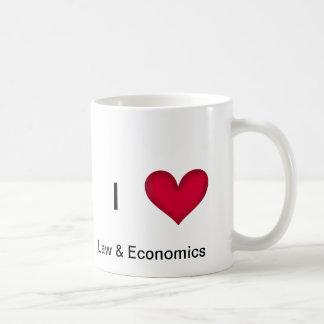 Amo la taza de la ley y de la economía