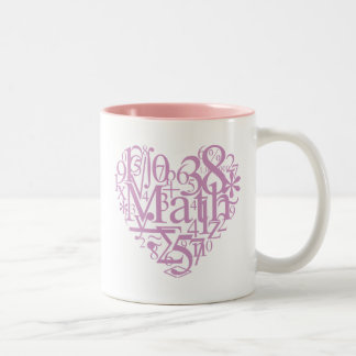 Amo la taza de la matemáticas