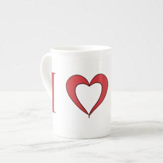Amo la taza de la porcelana de hueso de Marte Taza De Porcelana