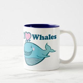 Amo la taza de las ballenas