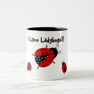 Amo la taza de las mariquitas
