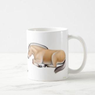 Amo la taza de los caballos del fiordo