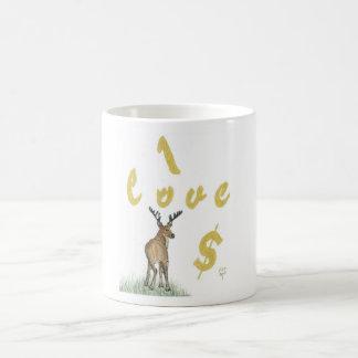 Amo la taza de los ciervos del dinero